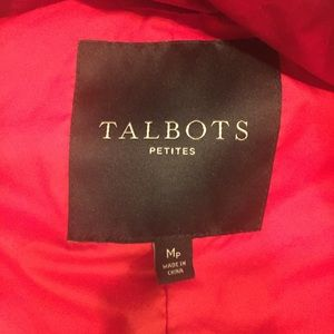 Talbots red puffer MP